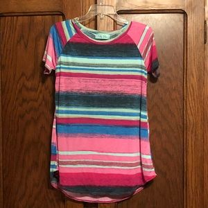 Fully Flair pink striped tunic shirt. Never worn!